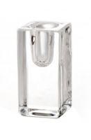 Mini bougeoir verre carré bougie haute