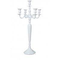 chandelier 5 branches blanc